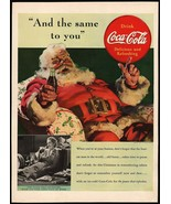 Vintage magazine ad COCA COLA from 1939 picturing Santa Claus by Haddon ... - $14.99