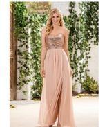 New Arrival A Line Rose Gold Sequin Long Bridesmaid Dresses Wedding Part... - $83.00