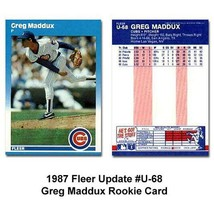 1987 Fleer Greg Maddux Rookie Baseball Card in Protective Display Case - $3.49