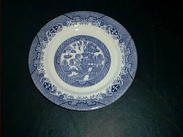 "Blue Willow Staffordshire Sandwich Plate 6 3/4"" - $9.99"
