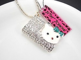 *NEW* CUTE BETSEY JOHNSON HELLO KITTY HANDBAG NECKLACE PENDANT ~ FREE SH... - $14.84