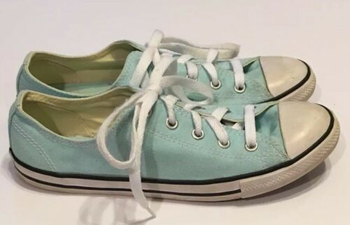 Converse All Star Light Blue Sneakers Shoes Womens 8 Low Top Lace Up