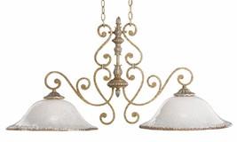 Scroll Iron Kichler Lighting Kitchen Island Ceiling Light Art Glass - $192.36