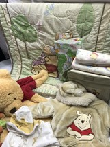 Classic Pooh Lot Winnie N Friends Diaper Bag Quilt Receiving Blankets Fl... - $163.34