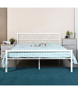 Full Metal Bed Frame with Headboard and Footboard Metal Platform Frames No  - £127.96 GBP