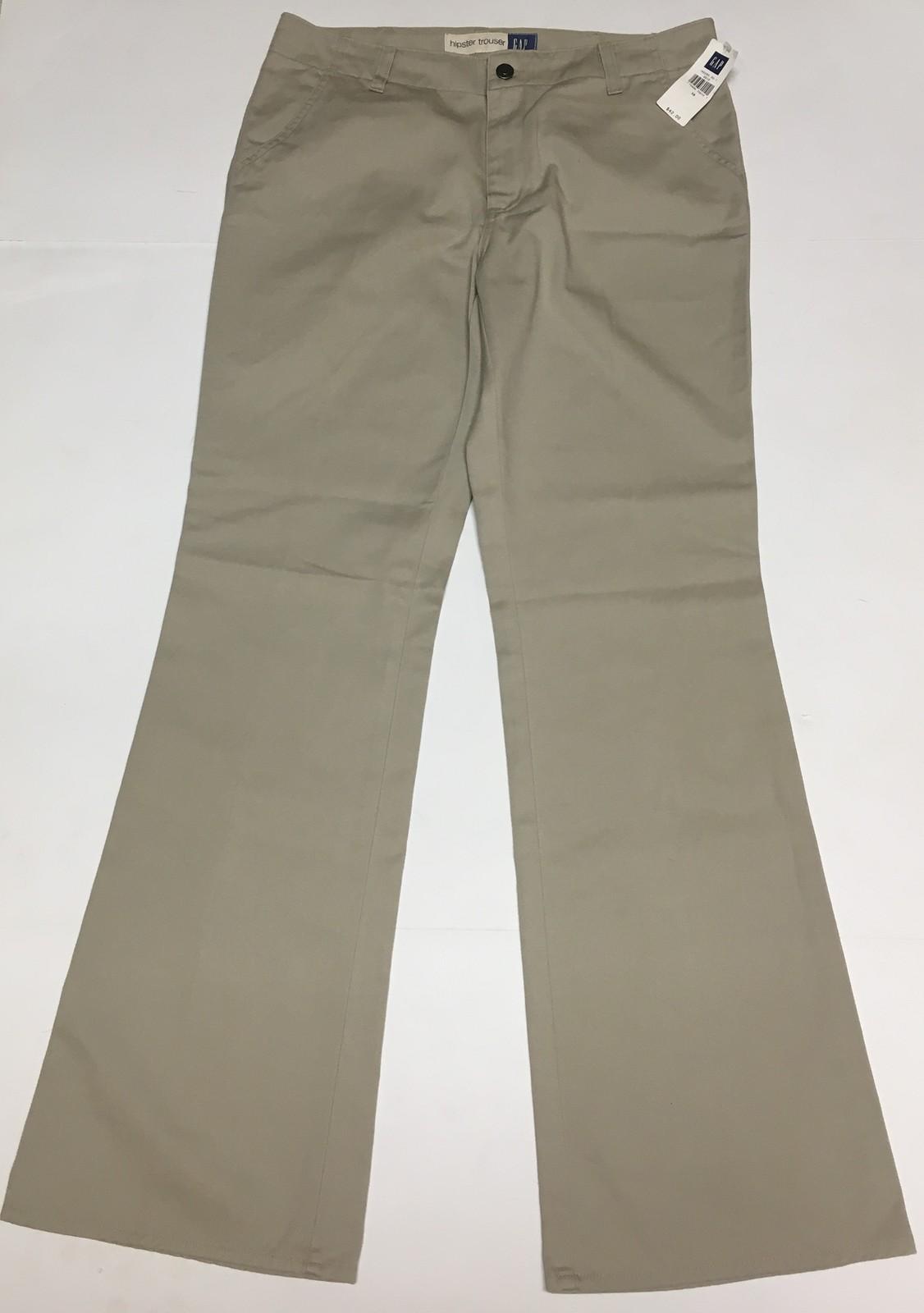GAP Hipster Trousers Pants Beige Sz 10 image 2