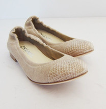 0e65a0641fc S-725310 New Chanel Ballerina Beige Flats Shoes Size US-8 marked-