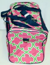 NGIL Hot Pink Lime Geometric Clover Print Canvas Duffle Bag image 2