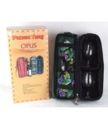 Picnic Time OPUS Deluxe Insulated Black Single Bottle Wine Tote & Servic... - $15.98