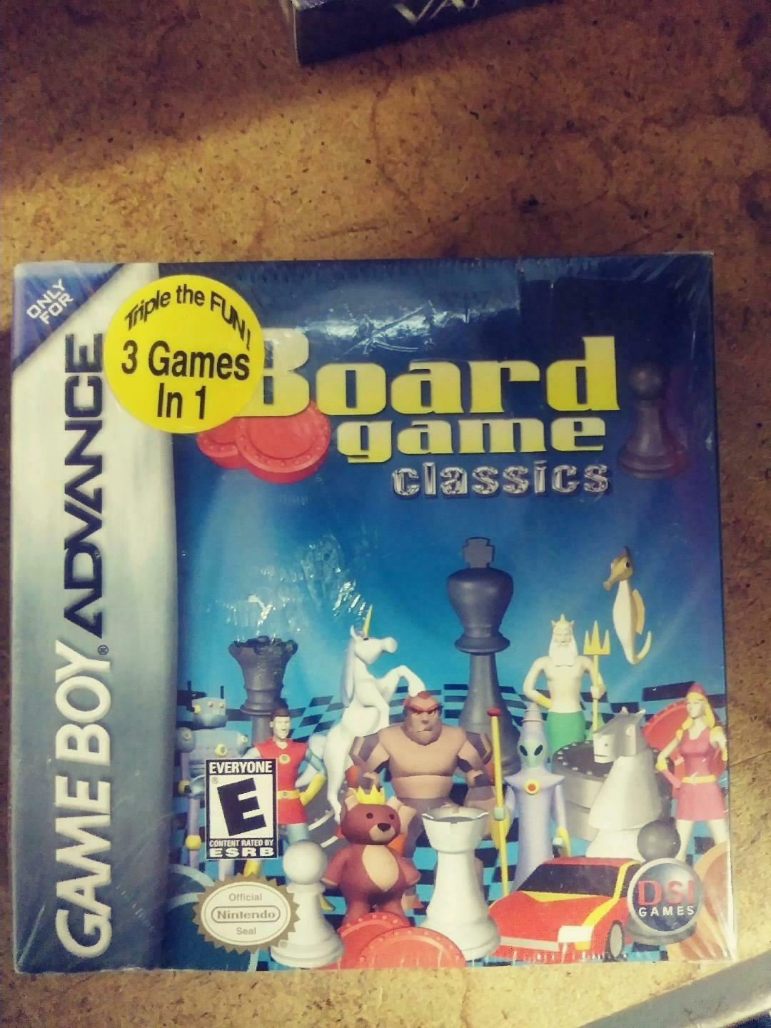 Board Game Classics Nintendo Game Boy Advance New in Sealed Box
