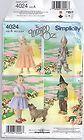 Simplicity costume pattern 4024 Oz Dorothy Glenda Tin man Scarecrow Toddler size