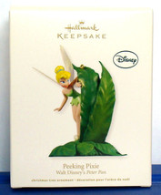 2012 Hallmark Ornament Disney Peter Pan Fairy Tinker Bell Peeking Pixie - $14.90
