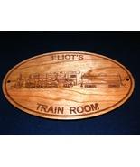 PERSONALIZED TRAIN ROOM WOODEN SIGN - Perfect for Grandpa, Dad, Mom,Uniq... - $31.99