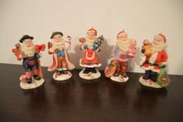 5 Santa Figurine ~ Santa Statues ~ Santa Claus Figurine ~ Saint Nick Statue - $20.00