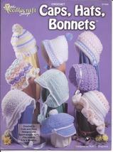 Baby Caps~Hats & Bonnets Crochet Pattern~Needlecraft Shop~Dated 1997 - $16.99