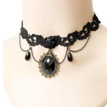 Retro Vintage Torque Lace Collar Choker Necklace - $14.99