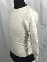 J Crew Tan Tweed Nautical Button 100% Cashmere Long Sleeve Sweater Top S - $19.97