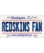 Redskins Washington D.C. Background Metal License Plate Tag (Redskins Fan) - $12.85