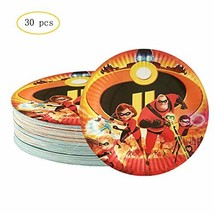 30PCS Incredible 2 Party Plates 7 Inch Disney Incredible Cake Decoration... - $16.19