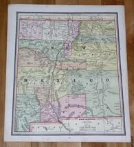 1890 ANTIQUE MAP OF NEW MEXICO / VERSO MAP OF COLORADO - $13.86