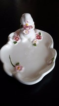 Avon 1985 Weiss Bunny Rabbit Floral Trinket Soap Dish Tray with Box NOS - $11.98