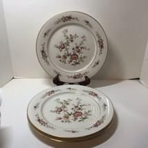 "3 Dinner Plates Noritake Asian Song Floral Gold Trim 10.5"" - $29.02"