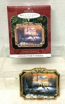 1998 Thomas Kinkade #2 Victorian Hallmark Christmas Tree Ornament MIB Tag - $12.38