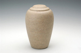 Large Grecian Stone Tone Catalina Adult Funeral Cremation Urn, 190 Cubic... - $194.99