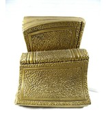 VTG set of 2 Brass PM Craftsman USA BOOKS Book ends or door stop heavy - $128.70