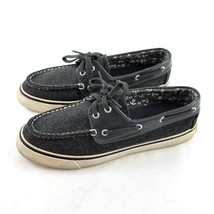 Sperry Top-Sider Charcoal Gray Wool Boat Shoes Casual Flats Womens 7.5 M - $29.54