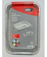 Weber 6415 Rectangular Foil Drip Pans Silver Color Set of 10 - $14.32
