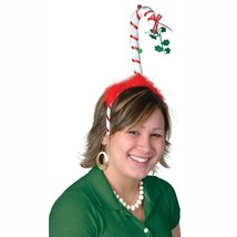 Beistle 1-Pack Mistletoe Candy Cane Boppers Party Hat - $6.47