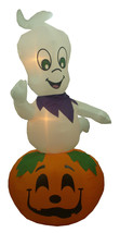 Animated Halloween Inflatable Ghost Pumpkins Jack O Lantern Yard Decorat... - $39.00