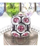 Pink Fuchsia Round Crystal Large Hole Bead Spacer for European Charm Bra... - $4.95