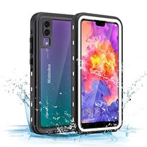 Huawei P20 Waterproof Case Mishcdea Shockproof Snow-Proof Dirt-Proof Ful... - $17.80