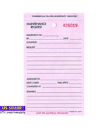 Package Of 100 Maintenance Request Form White -List of material on back ... - $34.64