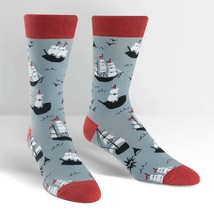 Ship Shape Dress Crew Socks New Men's Size10-13 Sock It To Me Boat Fashion - $11.95