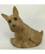 Antique Scotty Dog Scottish Terrier Cast Iron Door Stop Figural - $98.99