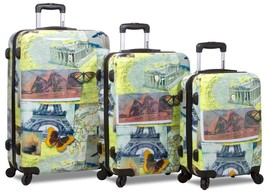 Rolite 3 Piece Hardcase Spinner Super Lightweight Luggage Set MOSAIC - $189.99