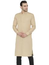 Raas Men Beige Cotton Cuffed Sleeve Straight Kurta Christmas Special - €32,81 EUR