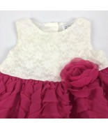 The Childrens Place Ruffle Lace Dress Baby Girl 9 - 12 Months Pink White - $8.90