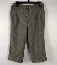 Ann Taylor Loft Womens Marisa Crop Capri Pants Sz 4 Adjustable Waist Bla... - $10.88