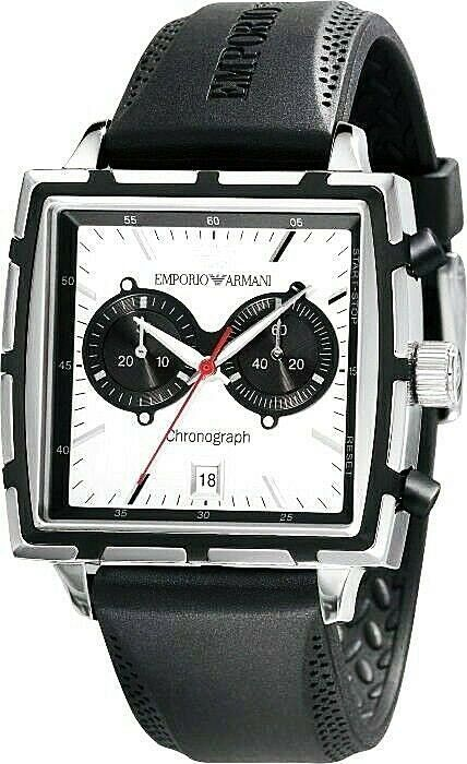 Emporio Armani  Square Chronograph  Men`s Watch AR0593 New With Box