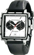Emporio Armani  Square Chronograph  Men`s Watch AR0593 New With Box - $491.94 CAD