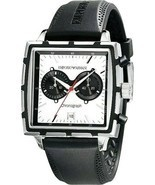 Emporio Armani  Square Chronograph  Men`s Watch AR0593 New With Box - ₹26,413.09 INR