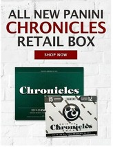 2019-20 PANINI CHRONICLES SOCCER RETAIL BOX (12PK 180 CARDS) GREENWOOD &... - $434.61