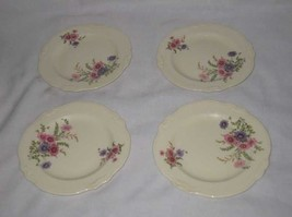 Neat Lot Of 4 Bread And Butter Plates Homer Laughlin Virginia Rose Dishe... - $38.52