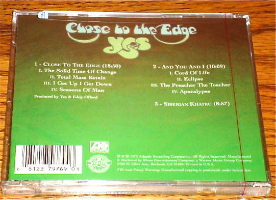 YES CLOSE TO THE EDGE CD STILL FACTORY SEALED!