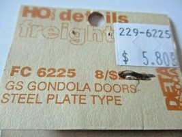 Detail Associates # 6225 GS Gondola Doors Steel Plate Type HO-Scale image 2