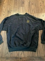 John Deere Men's v Neck Pullover Windbreaker Jacket size Large - $41.46